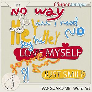 Vanguard Me Word Art