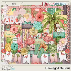 Flamingo Fabulous Digital Scrapbook Kit By Dandelion Dust Designs