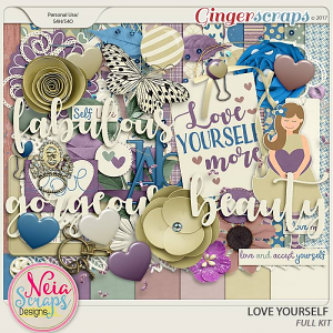 Love Yourself- Kit - By Neia Scraps