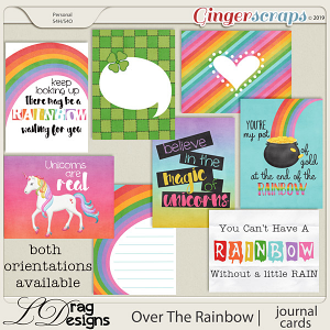 Over The Rainbow: Journal Cards by LDragDesigns