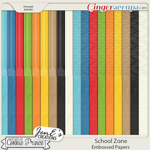 School Zone - Embossed Papers