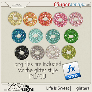 Life Is Sweet: Glitterstyles by LDragDesigns