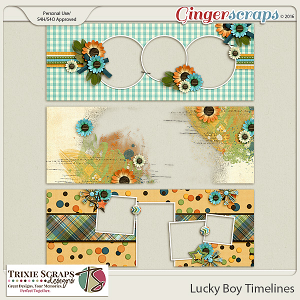 Lucky Boy Timelines by Trixie Scraps Designs