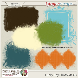 Lucky Boy Photo Masks by Trixie Scraps Designs