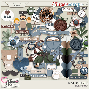 Best Dad Ever -  Elements - by Neia Scraps