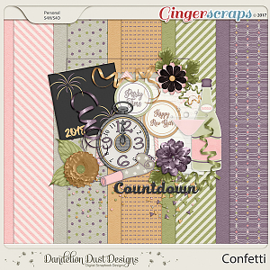 Confetti Digital Scrapbook Kit by Dandelion Dust Designs