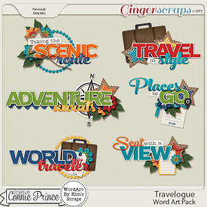 Travelogue - WordArt Pack