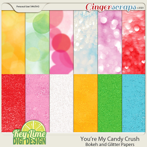 Youre My Candy Crush Bokeh and Glitter Papers By KLDD
