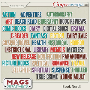 Book Nerd GENRE TAGS by MagsGraphics