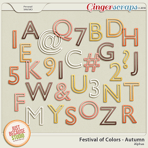 Festival of Colors: Autumn Alphas by JB Studio