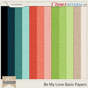 Be My Love Basic Papers by JoCee Designs