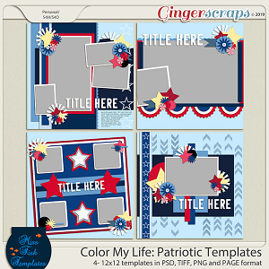 Color My Life: Patriotic Templates by Miss Fish