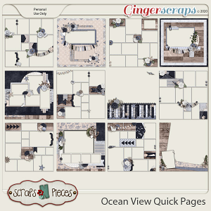 Ocean View Quick Pages - Scraps N Pieces