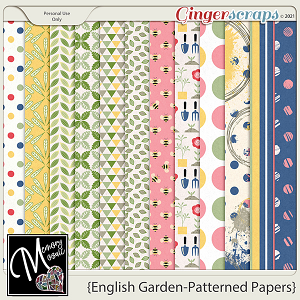 English Garden-Patterned Papers by Memory Mosaic