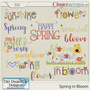 Spring in Bloom {Wordart} by Day Dreams 'n Designs