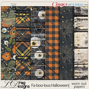 Fa-BOO-lous Halloween: Worn Out Papers by LDragDesigns