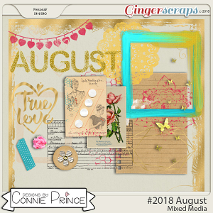 #2018 August - Mixed Media by Connie Prince