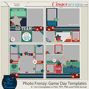 Photo Frenzy: Game Day by Miss Fish Templates
