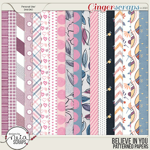 Believe in You - Patterned Papers - by Neia Scraps