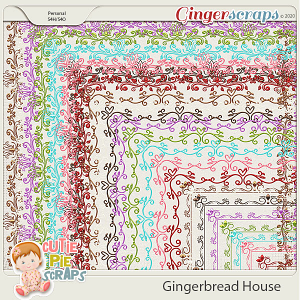 Gingerbread House Page Borders