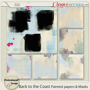 Back to the Coast Painted papers & Masks