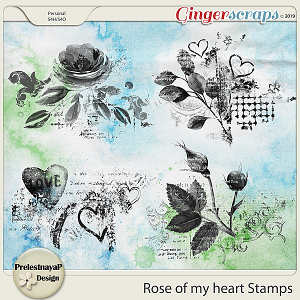 Rose of my heart Stamps
