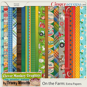 On the Farm Extra Papers by Clever Monkey Graphics