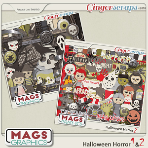 Halloween Horror Kits 1 & 2 by MagsGraphics