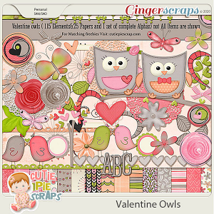 Valentine Owls - Page Kit