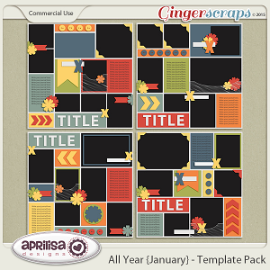 All Year {January} - Template Pack