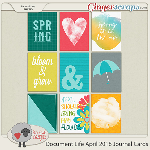Document Life April 2018 Journal Cards by Luv Ewe Designs