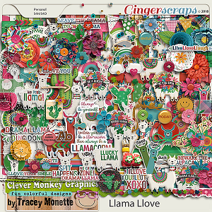 Llama Love Kit by Clever Monkey Graphics