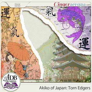 Akiko Torn Edge Borders {DOTW - Japan} by ADB Designs