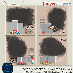 Simply Stacked 45-48 Templates by Miss Fish