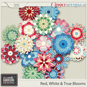 Red, White & True Blooms by Aimee Harrison