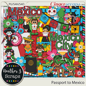 Passport to Mexico KIT by Heather Z Scraps