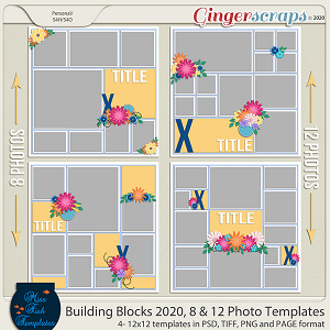 Building Blocks 2020 8 and 12 Templates by Miss Fish