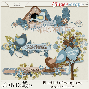 Bluebird of Happiness Clusters by ADB Designs