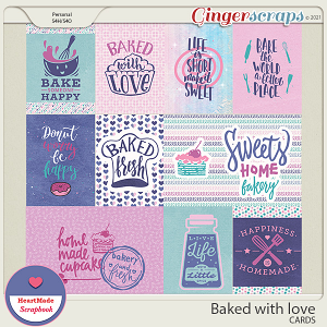 Baked with love - cards