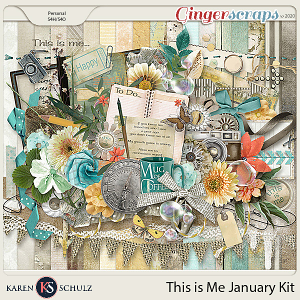 This is Me January Kit by Karen Schulz