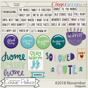 #2018 November - Snippets by Connie Prince