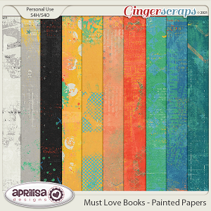 Must Love Books - Painted Papers by Aprilisa Designs