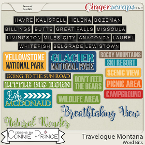 Travelogue Montana - Word Bits by Connie Prince