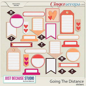 Going The Distance Stickers by JB Studio