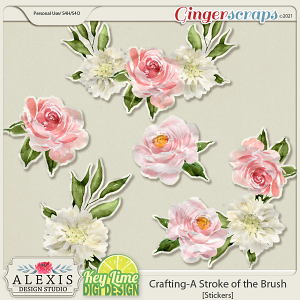 Crafting_A Stroke of the Brush Stickers by Alexis Design Studio and Key Lime Digi Design