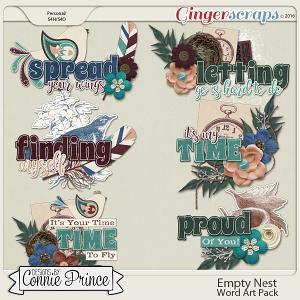 Empty Nest - Word Art Pack