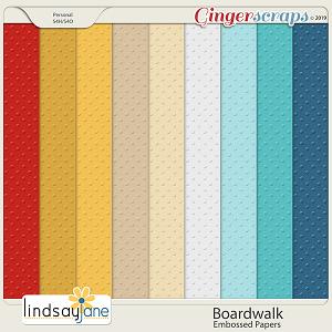 Boardwalk Embossed Papers by Lindsay Jane