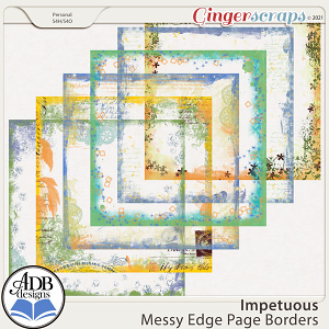 Impetuous Page Borders by ADB Designs