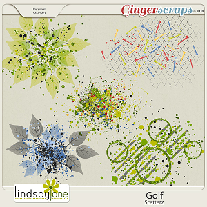 Golf Scatterz by Lindsay Jane