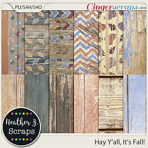 Hay Y'all, It's Fall WEATHERED WOOD by Heather Z Scraps